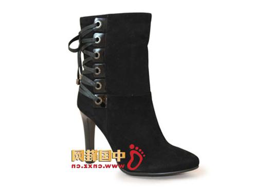 Warm winter mainstream color classic black with buckle design, elegant fashion.