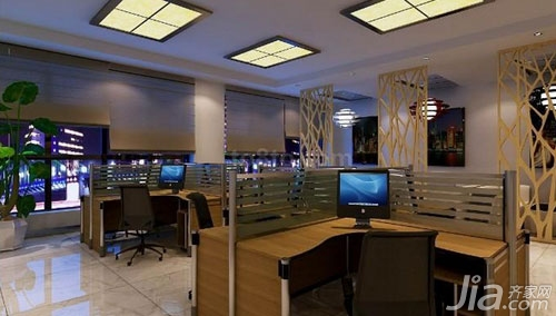 Look at the small office renovation effect design