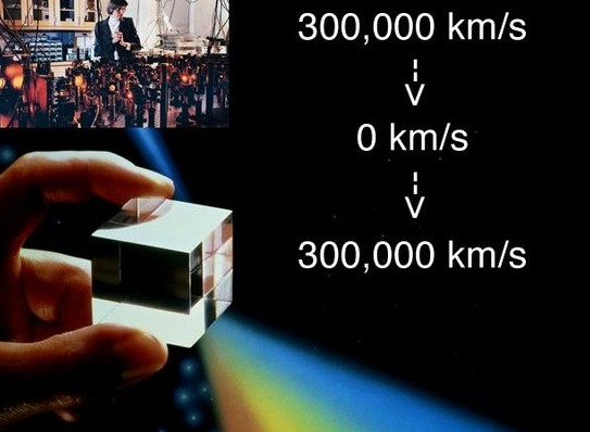 Another milestone in quantum communication, the speed of light is stopped for 60 seconds
