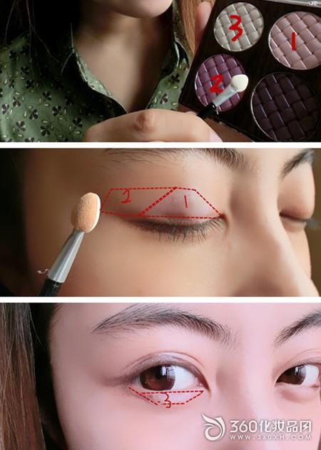 MM demonstration Korean daily makeup painting
