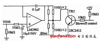 Voice control blower module of automobile air conditioning system