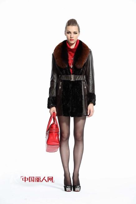 AIMEENIT冬季皮草 都市女性时尚新潮流