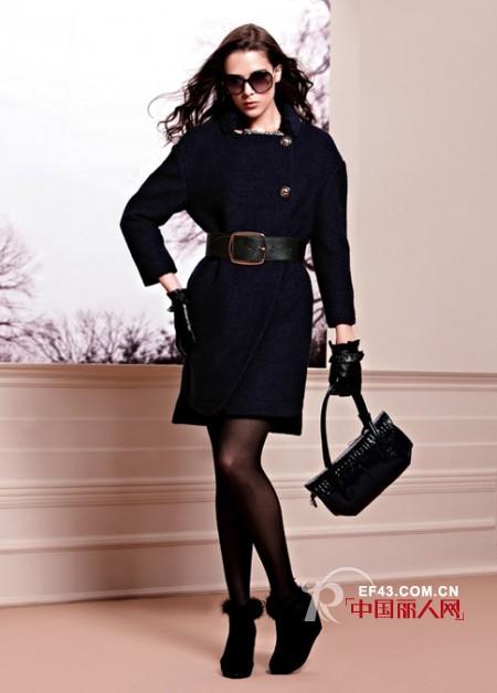 例格女装黑色外套  时尚百搭彰显女王范