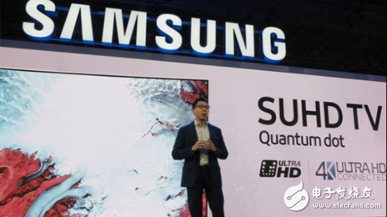 Samsung pushes the world's largest quantum dot 4K TV. No one is better than it.