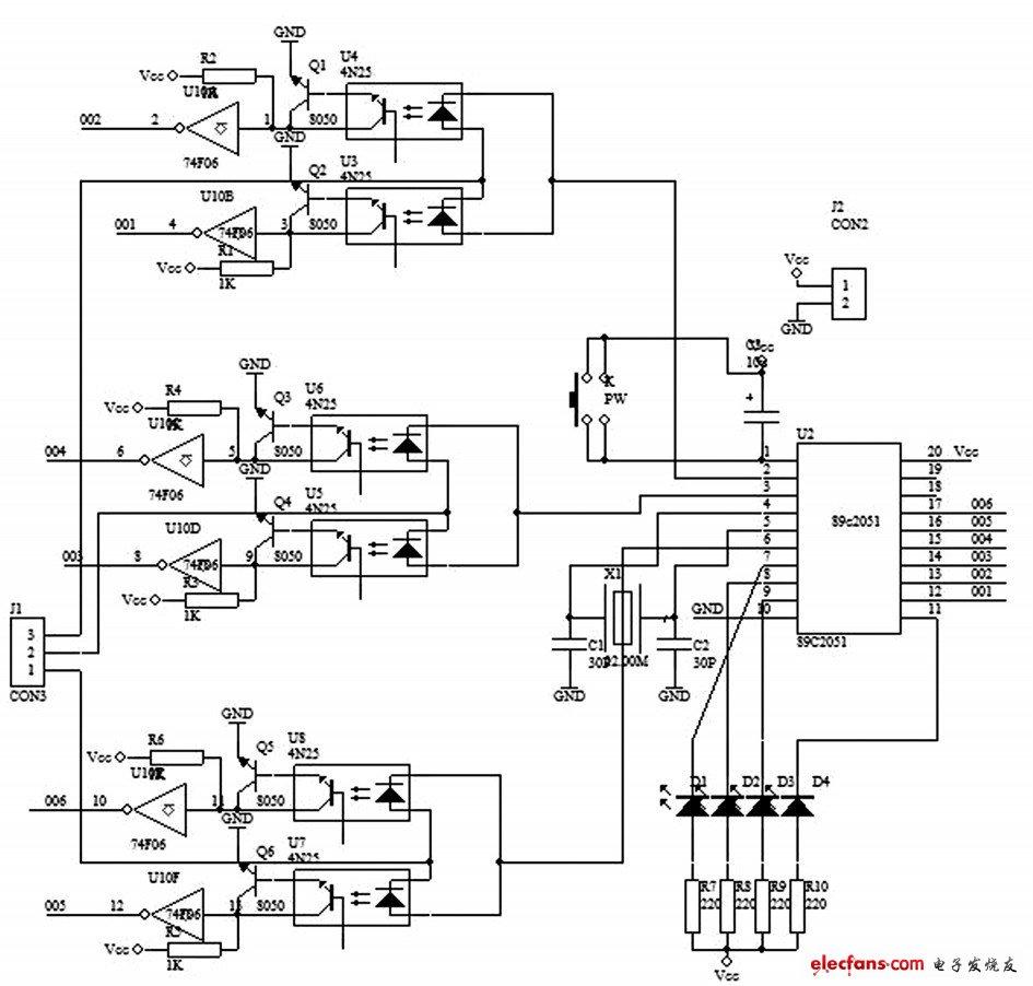 Figure 2 Discriminating circuit schematic