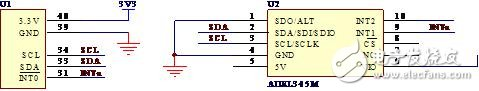 ADXL345 adopts I2C mode and tms320vc5509A interface