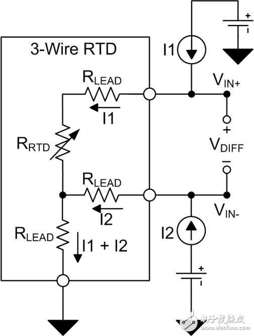 The effect of excitation current mismatch in a three-wire resistive temperature detector (RTD) measurement system - Part 1