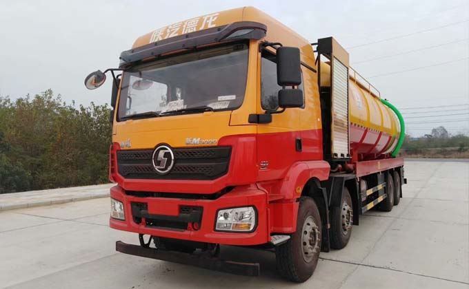 Shaanxi Automobile Delong Front 4 Rear 8 32 Fang Cleaning Sewage Suction Truck|Price|Configuration|Picture