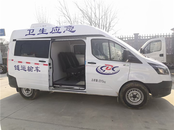 Cold chain vaccine vehicle_National Sixth Jiangling Transit Blue Vaccine Transfer Vehicle_Special for CDC