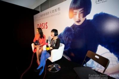 英国著名女装品牌OASIS 2012秋冬发布会上海隆重举行