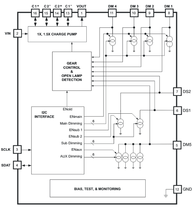 TPS60250 functional block diagram