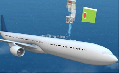 This antenna allows you to enjoy high speed WiFi on the plane.