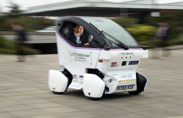British driverless car Lutz Pathfinder debuted.