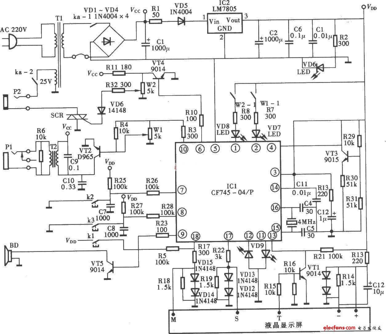 Circuit of Xuemaitong multifunctional therapeutic instrument