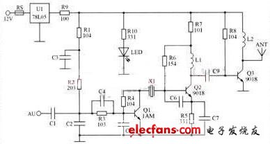 Car audio MP3 transmitter circuit