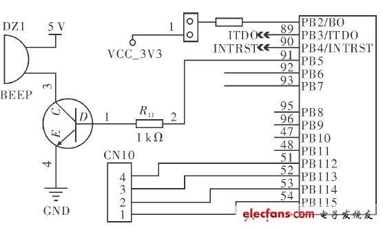 Buzzer circuit of red light therapeutic instrument