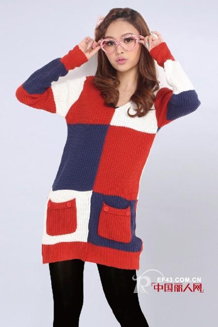 甜美款针织毛衣怎么穿搭出软萌妹子气质