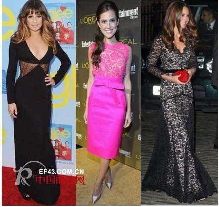 连奴时装A/E品牌携众明星示范冬季蕾丝裙穿法