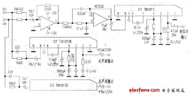 Ultra low-cost audio circuit schematic