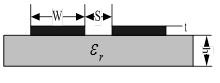 Coplanar stripline structure