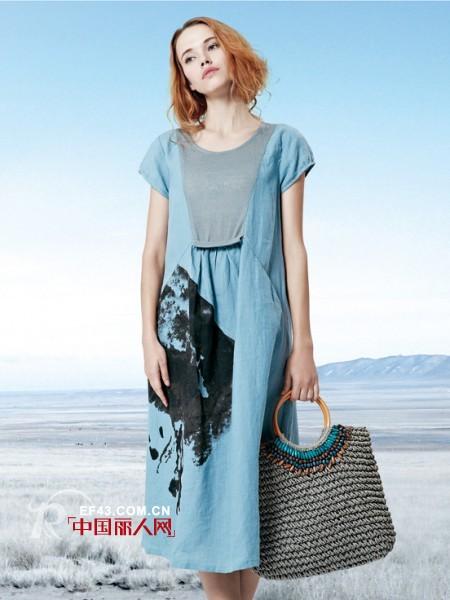 夏日轻松惬意森系女装搭配 让你做个安静的女纸