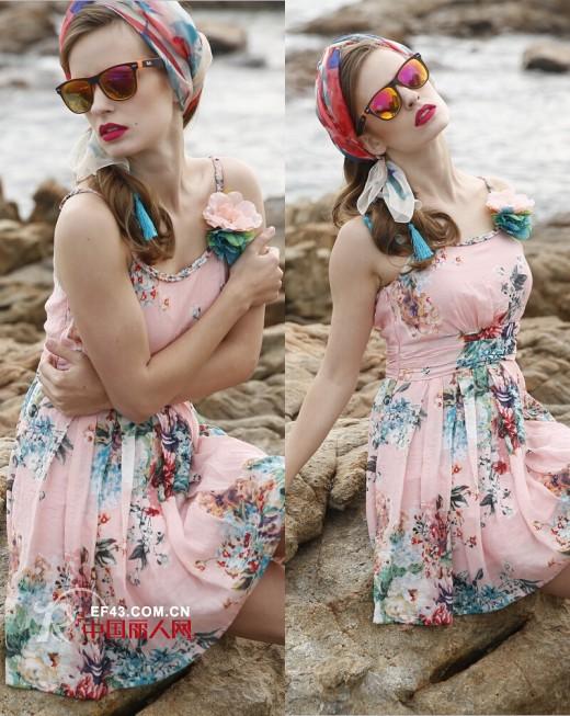楚阁时尚女装:听说吊带裙和端午节更配哦