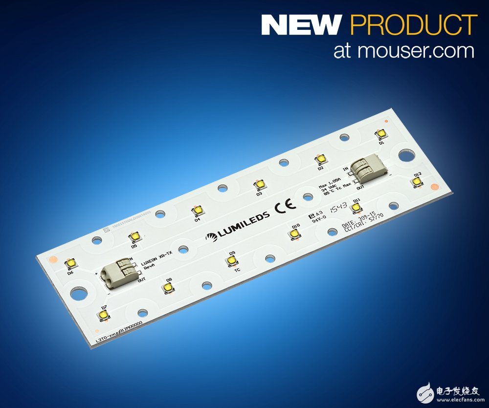 Mouser stocks Lumileds new generation LED products LUXEON XR-TX high efficiency LED matrix