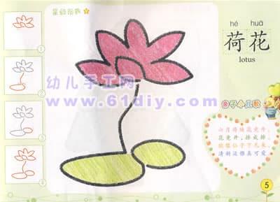 Children draw lotus
