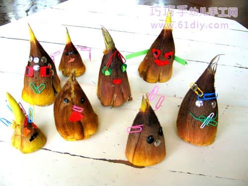 Children's handmade - bamboo shoot doll