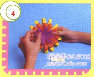 Three-dimensional card decoration flower making