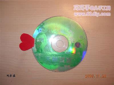 Disc handmade - shiny fish