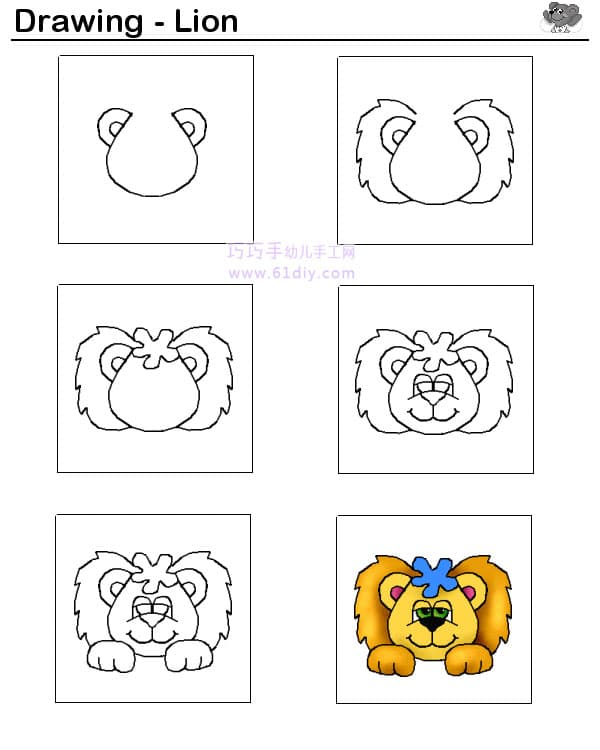 Cartoon lion drawing