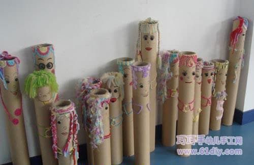 Cling film tube doll