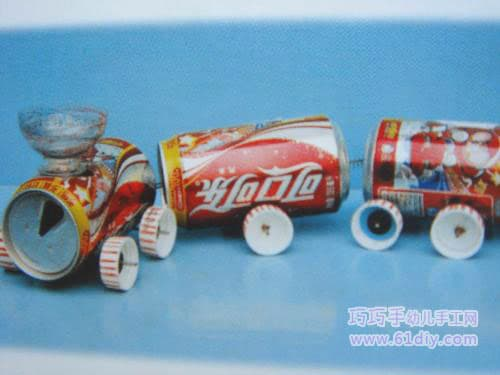 Cola canister train