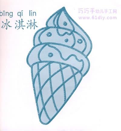 Ice cream stick figure