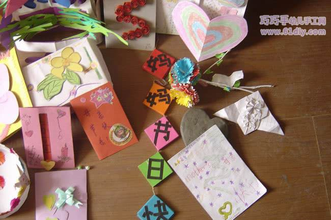 Kindergarten children's handmade works on Mother's Day