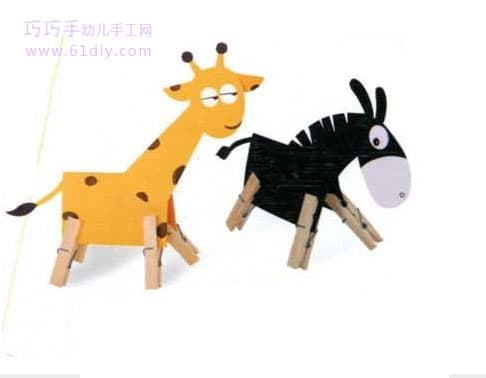 Handmade works: deer and small donkey