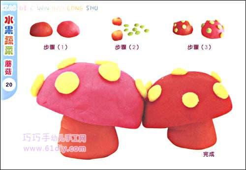Plasticine handmade - mushrooms