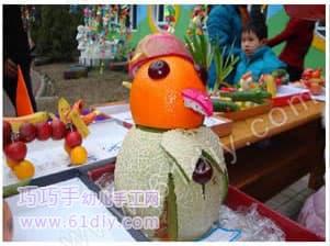 Fruit and vegetable handmade - clown