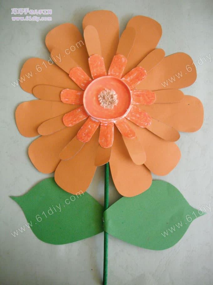 Paper cup handmade flowers