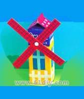 Milk box windmill