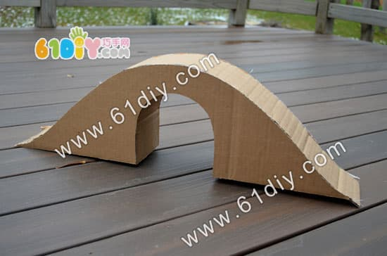 Cardboard handmade - bridge