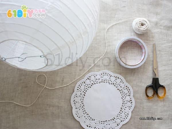 Cake paper lantern making process