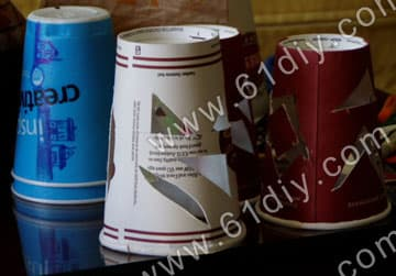 Homemade paper cup lantern