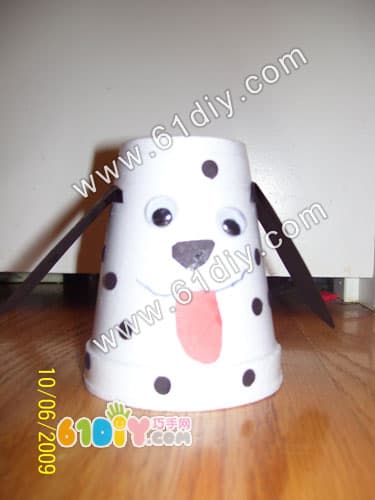 Paper cup puppy making