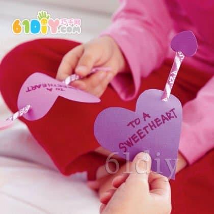 Handmade arrow of love