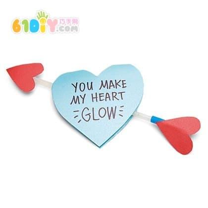 Love arrow handmade