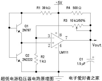 [Photo] A schematic diagram of an ultra-low power regulator circuit