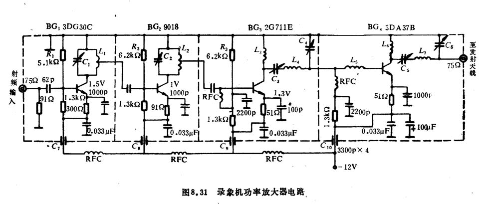 Video Recorder RF Power Amplifier