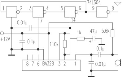 Making wireless microphone and circuit with NAND gate circuit